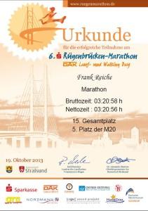 Rügenbrücken-Marathon 2013 Frank Reiche SC DHfK-Skisport