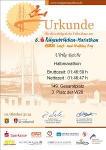 Rügenbrücken-Marathon 2013 Ulrike Reiche SC DHfK-Skisport